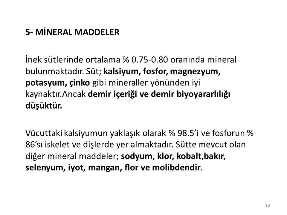 5- MİNERAL MADDELER
