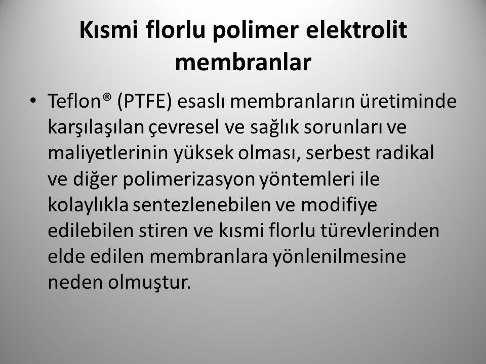 Kısmi florlu polimer elektrolit membranlar