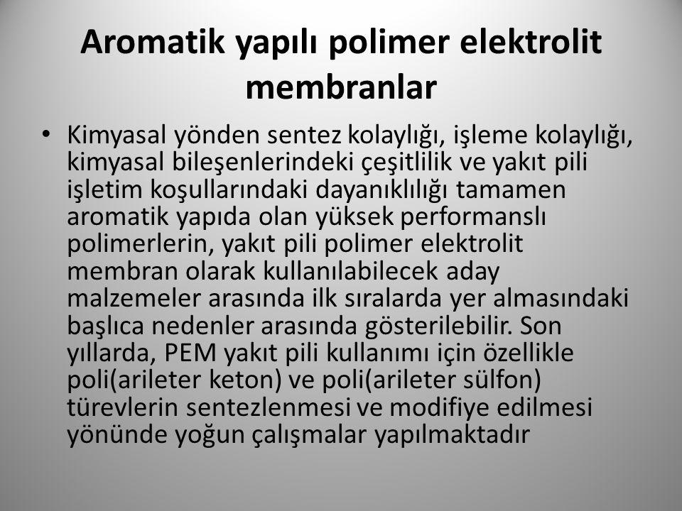 Aromatik yapılı polimer elektrolit membranlar