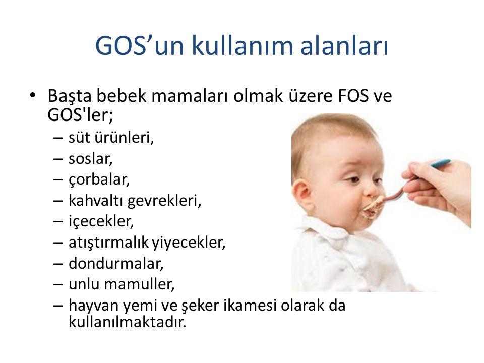 GOS'un kullanım alanları