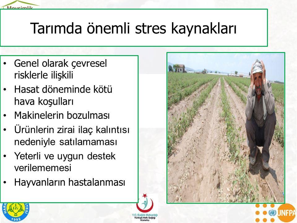 Tarımda önemli stres kaynakları