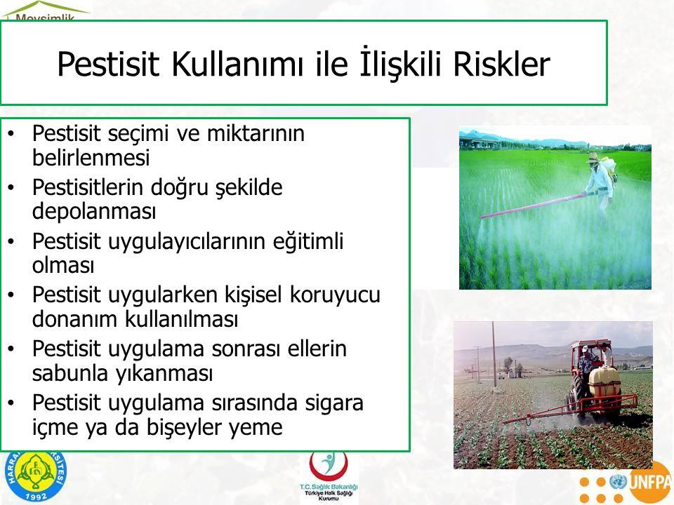 Pestisit Kullanımı ile İlişkili Riskler