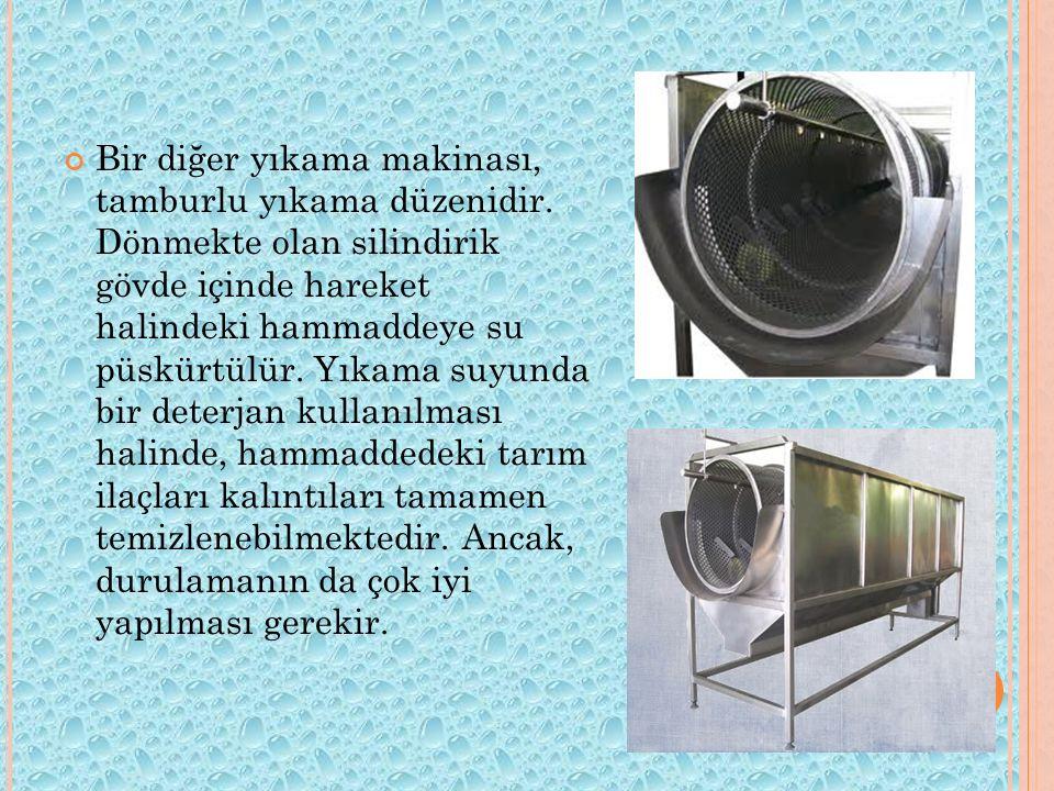 Bir diğer yıkama makinası, tamburlu yıkama düzenidir