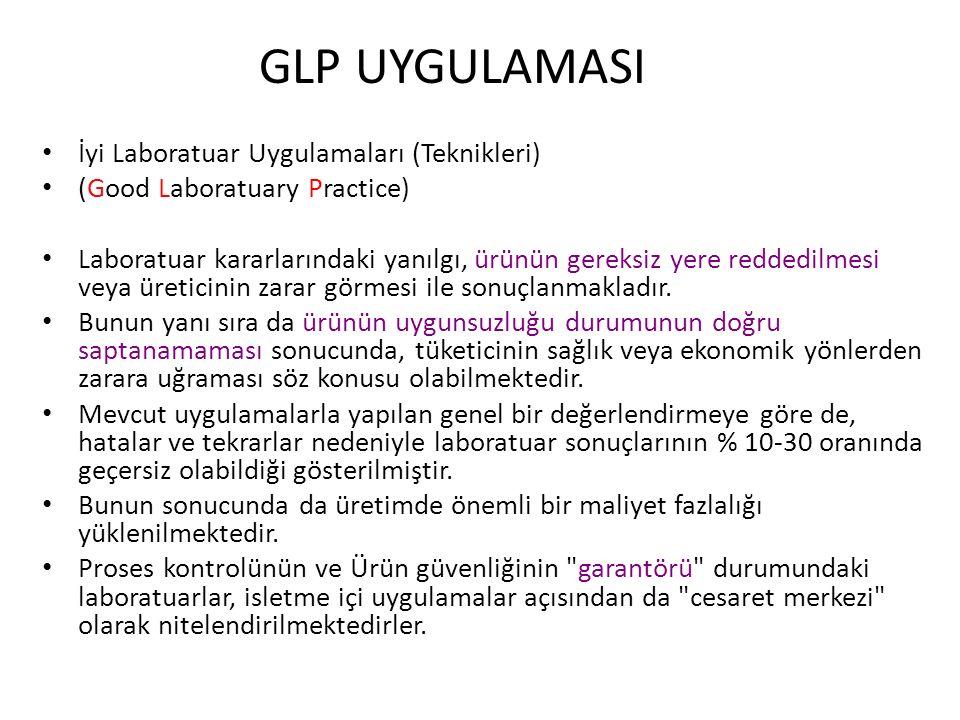 GLP UYGULAMASI İyi Laboratuar Uygulamaları (Teknikleri)