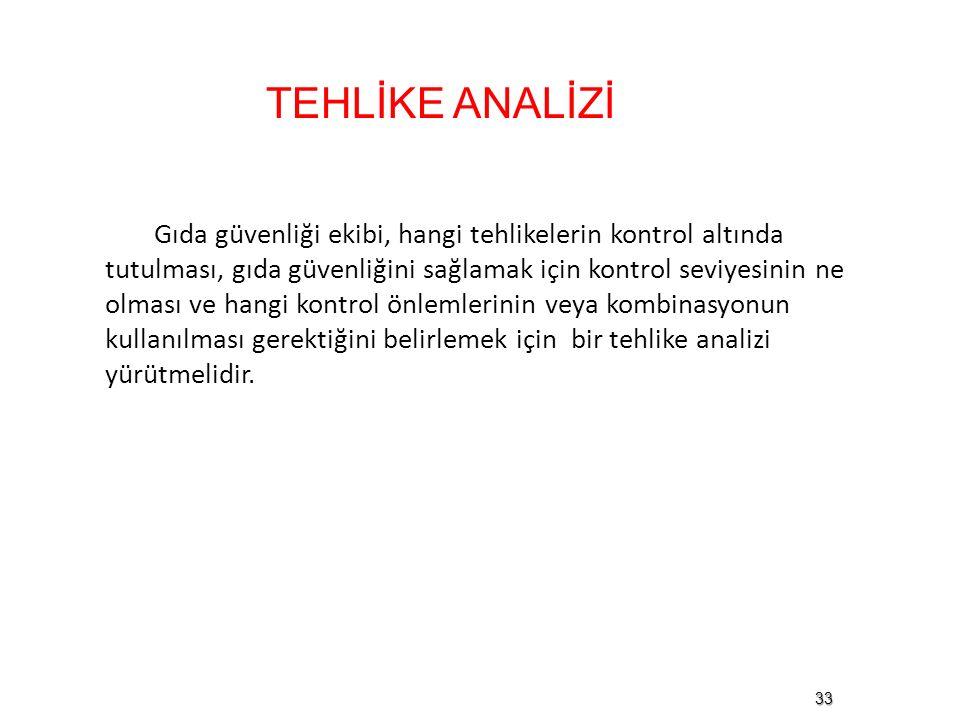 TEHLİKE ANALİZİ
