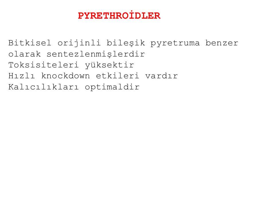 PYRETHROİDLER Bitkisel orijinli bileşik pyretruma benzer