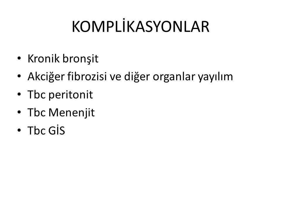 KOMPLİKASYONLAR Kronik bronşit