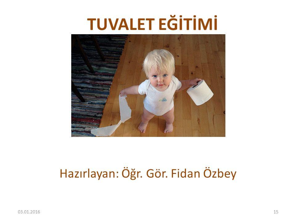 Hazırlayan: Öğr. Gör. Fidan Özbey