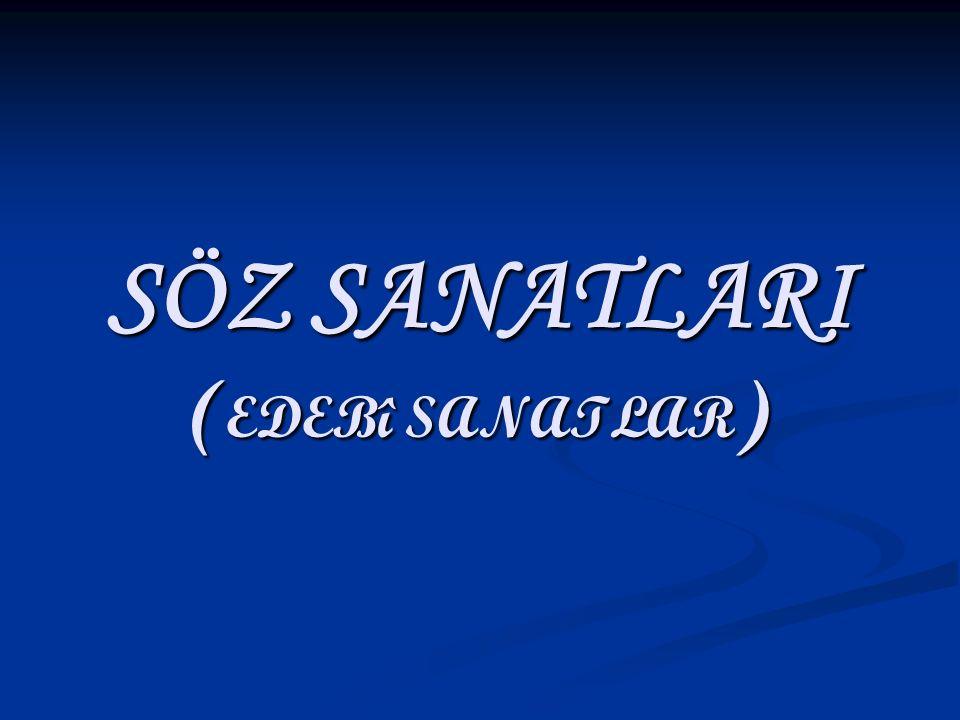 SÖZ SANATLARI (EDEBî SANATLAR)