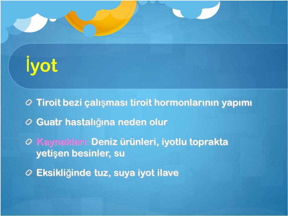 İyot Tiroit bezi çalışması tiroit hormonlarının yapımı