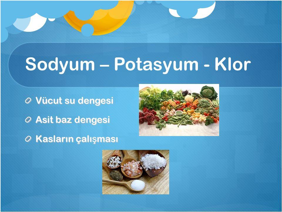 Sodyum – Potasyum - Klor