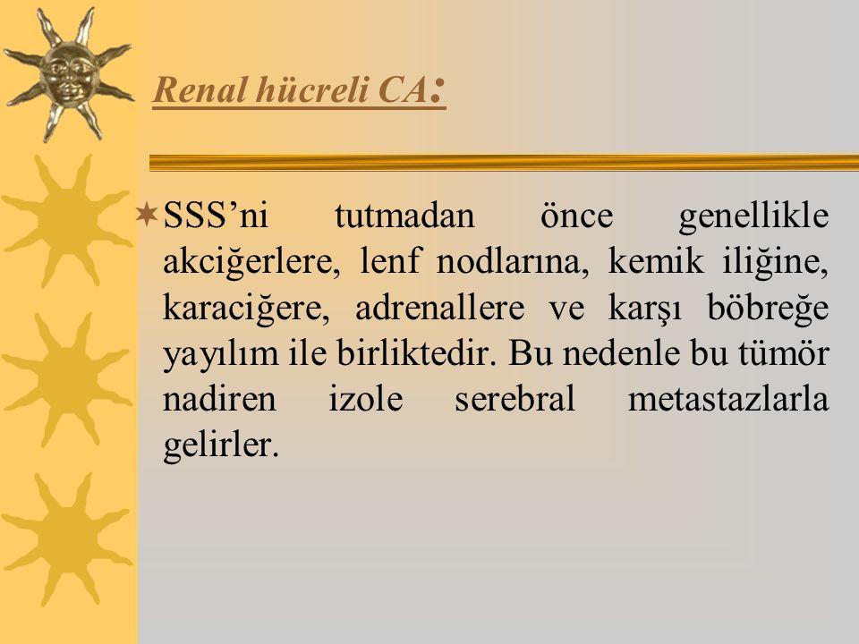 Renal hücreli CA: