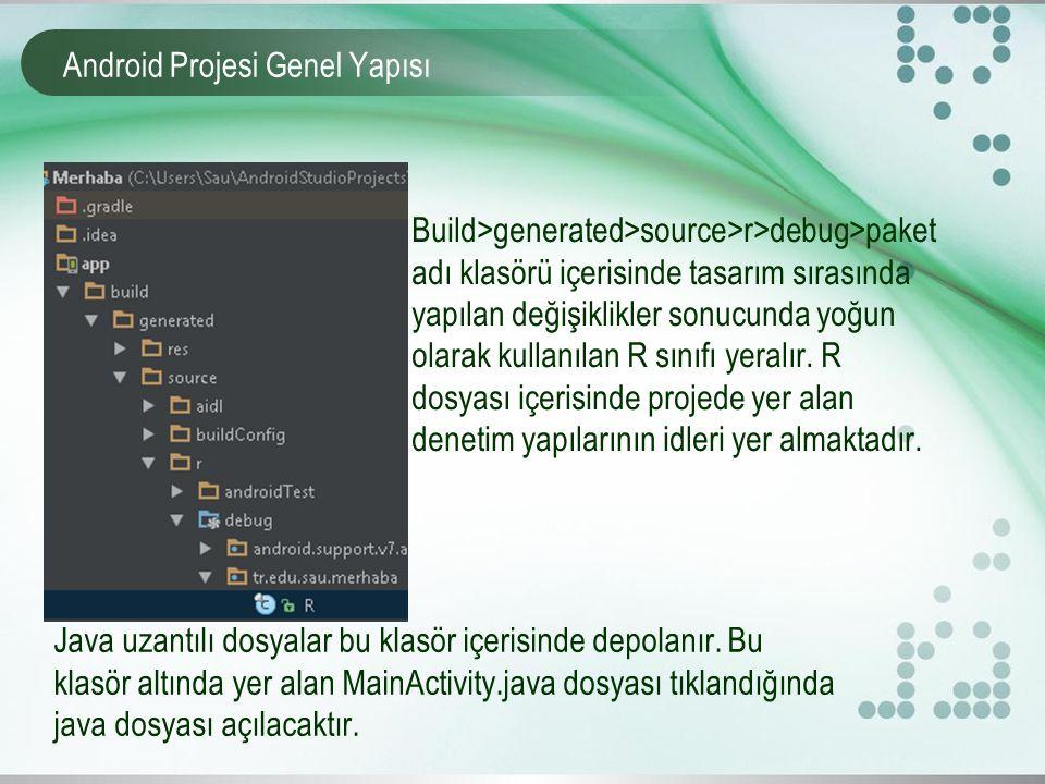 Android Projesi Genel Yapısı