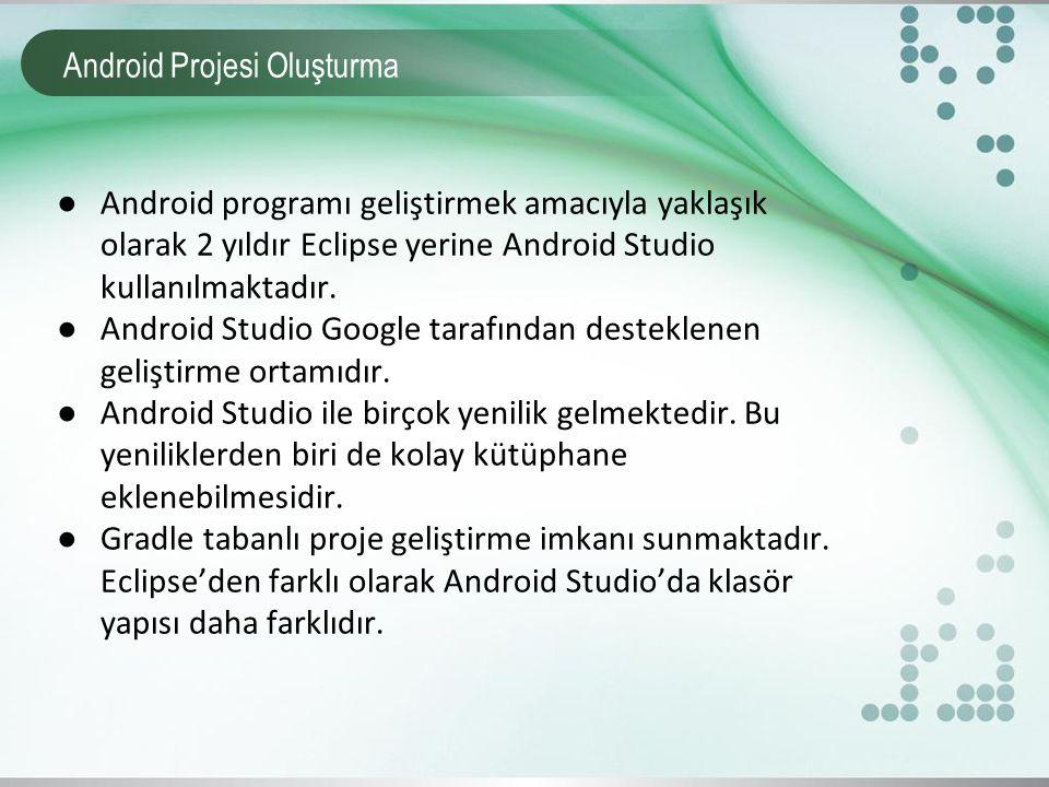 Android Projesi Oluşturma
