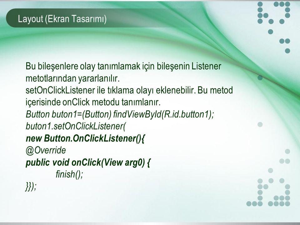 Layout (Ekran Tasarımı)