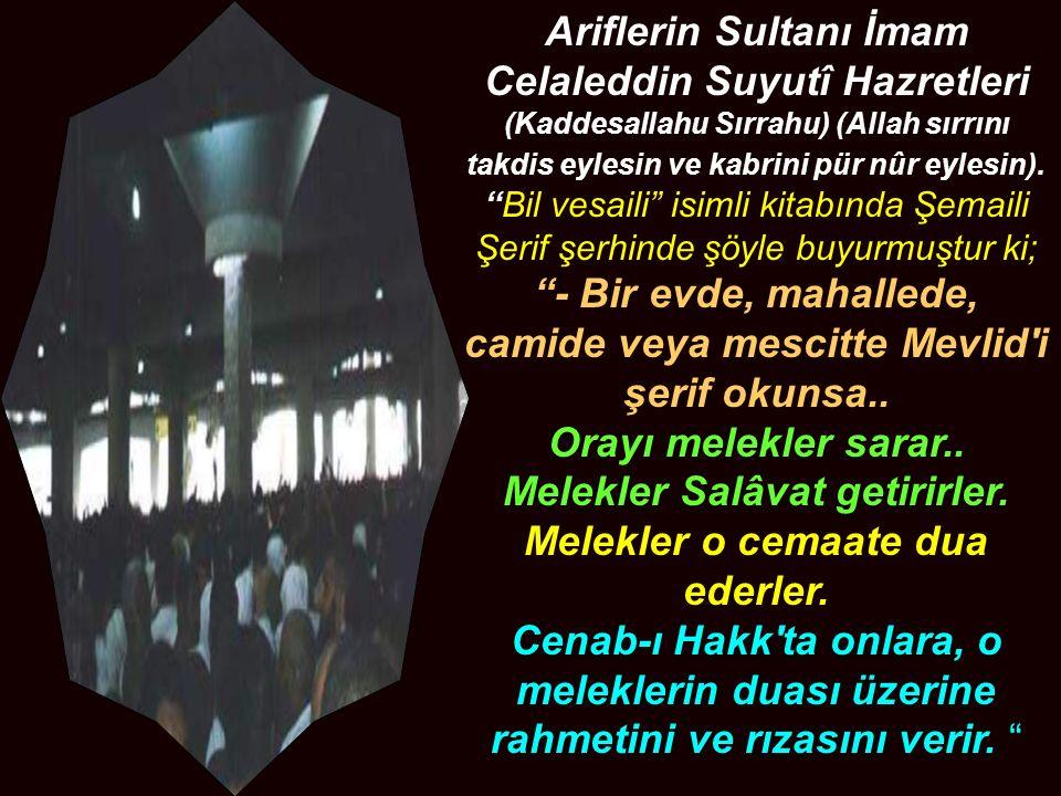 Ariflerin Sultanı İmam Celaleddin Suyutî Hazretleri (Kaddesallahu Sırrahu) (Allah sırrını takdis eylesin ve kabrini pür nûr eylesin).