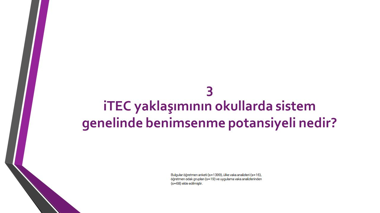 3 iTEC yaklaşımının okullarda sistem genelinde benimsenme potansiyeli nedir