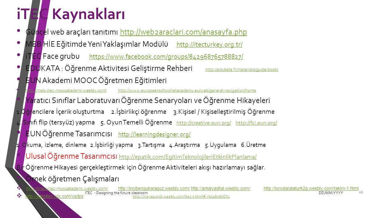 iTEC Kaynakları Güncel web araçları tanıtımı http://web2araclari.com/anasayfa.php.
