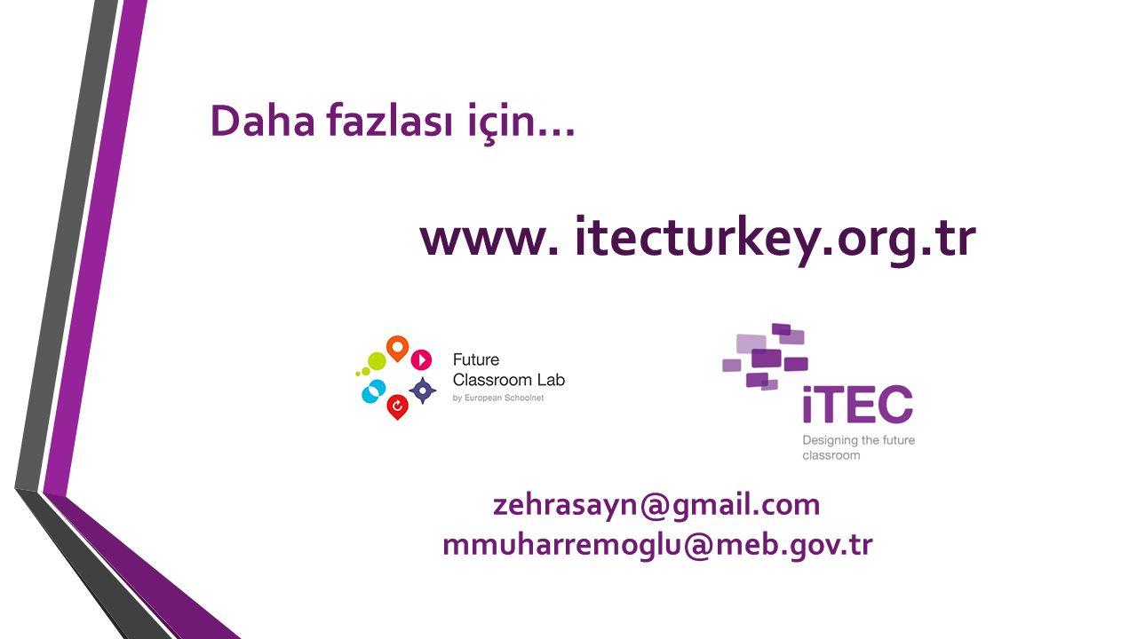 www. itecturkey.org.tr Daha fazlası için… zehrasayn@gmail.com