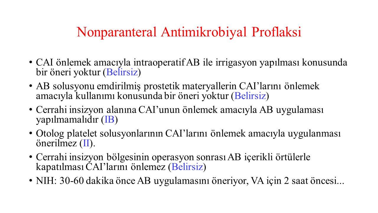 Nonparanteral Antimikrobiyal Proflaksi