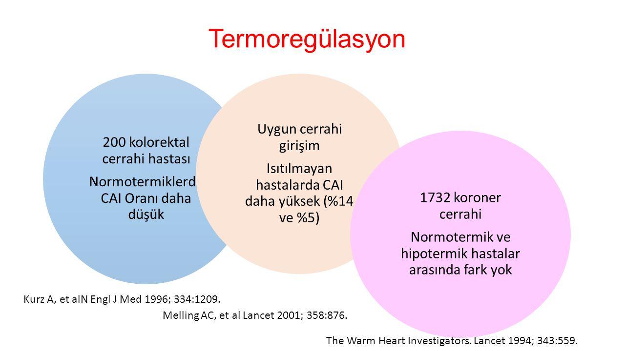Termoregülasyon Kurz A, et alN Engl J Med 1996; 334:1209.