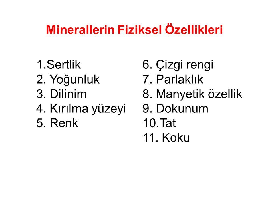 Minerallerin Fiziksel Özellikleri