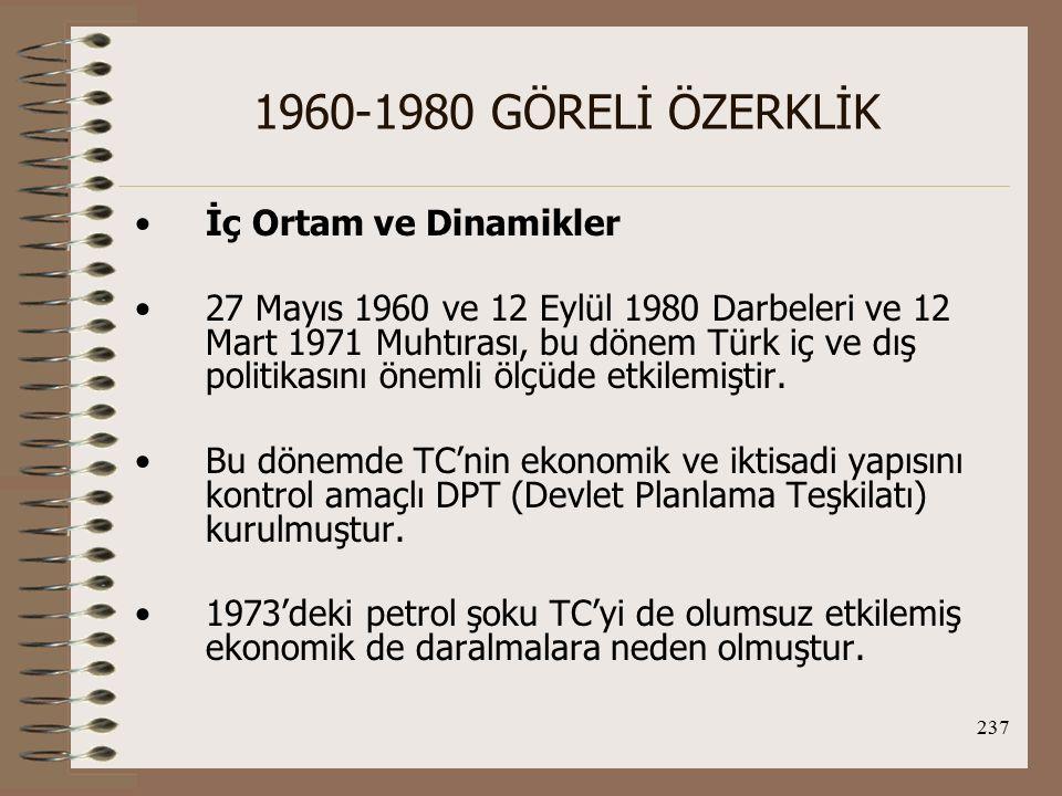 1960-1980 GÖRELİ ÖZERKLİK İç Ortam ve Dinamikler