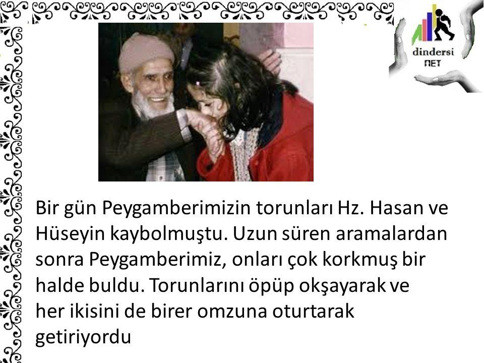 Bir gün Peygamberimizin torunları Hz. Hasan ve Hüseyin kaybolmuştu