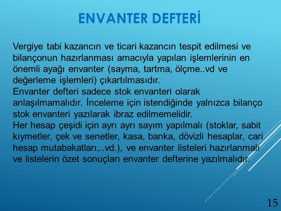 ENVANTER DEFTERİ