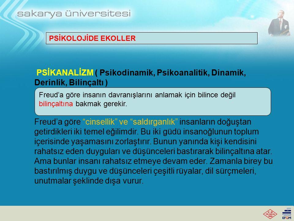 PSİKANALİZM ( Psikodinamik, Psikoanalitik, Dinamik, Derinlik, Bilinçaltı )