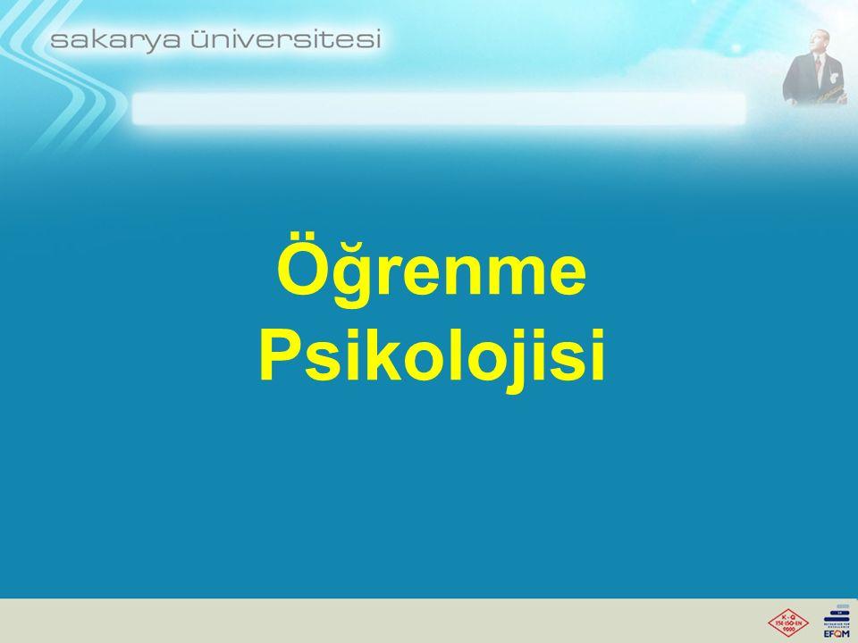 Öğrenme Psikolojisi