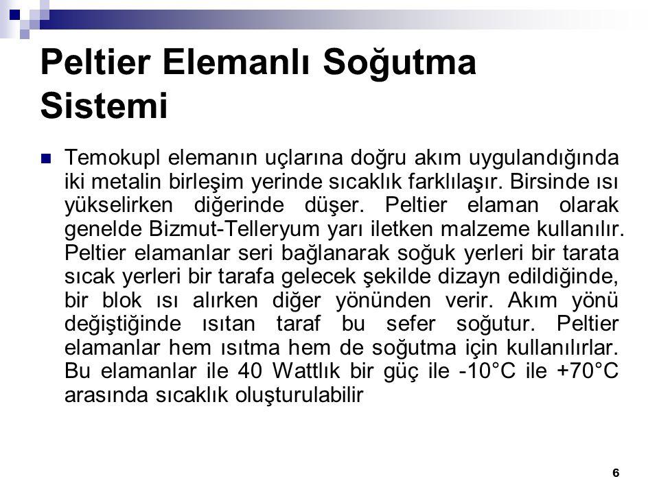 Peltier Elemanlı Soğutma Sistemi