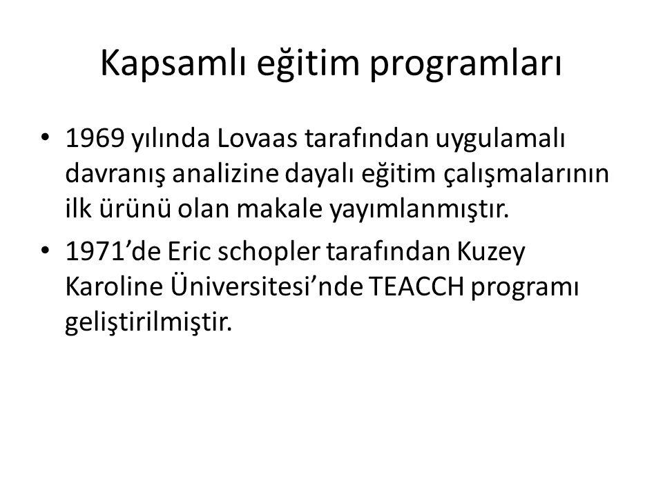 Kapsamlı eğitim programları