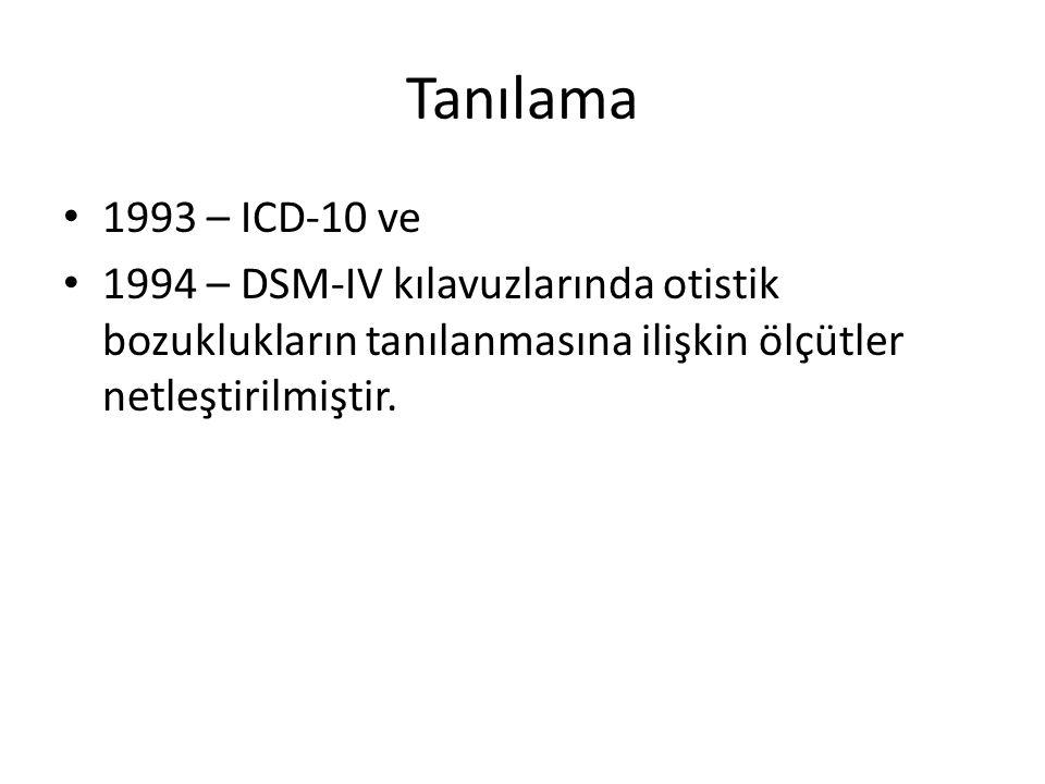 Tanılama 1993 – ICD-10 ve.