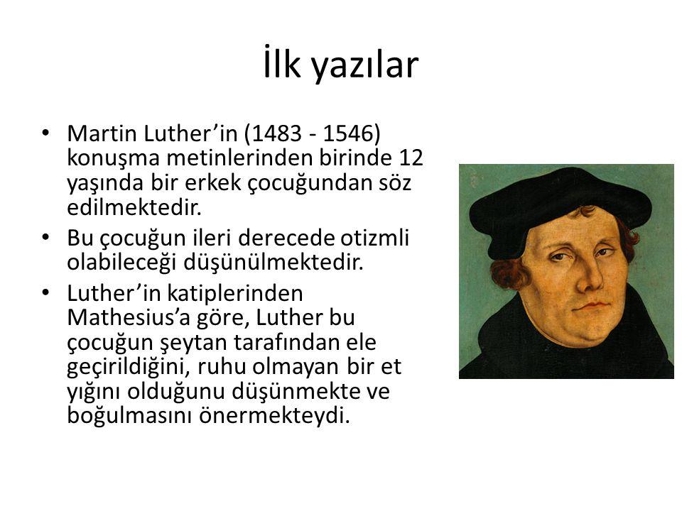 İlk yazılar Martin Luther'in (1483 - 1546) konuşma metinlerinden birinde 12 yaşında bir erkek çocuğundan söz edilmektedir.