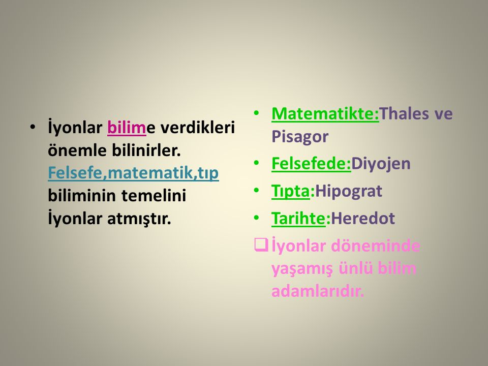 Matematikte:Thales ve Pisagor