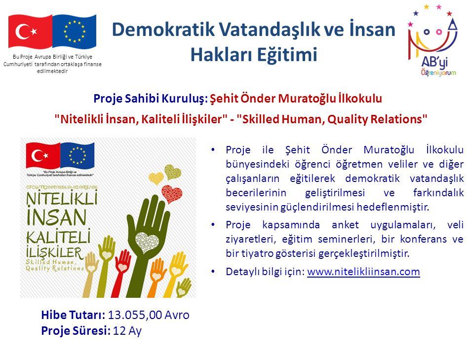 Demokratik Vatandaşlık ve İnsan Hakları Eğitimi
