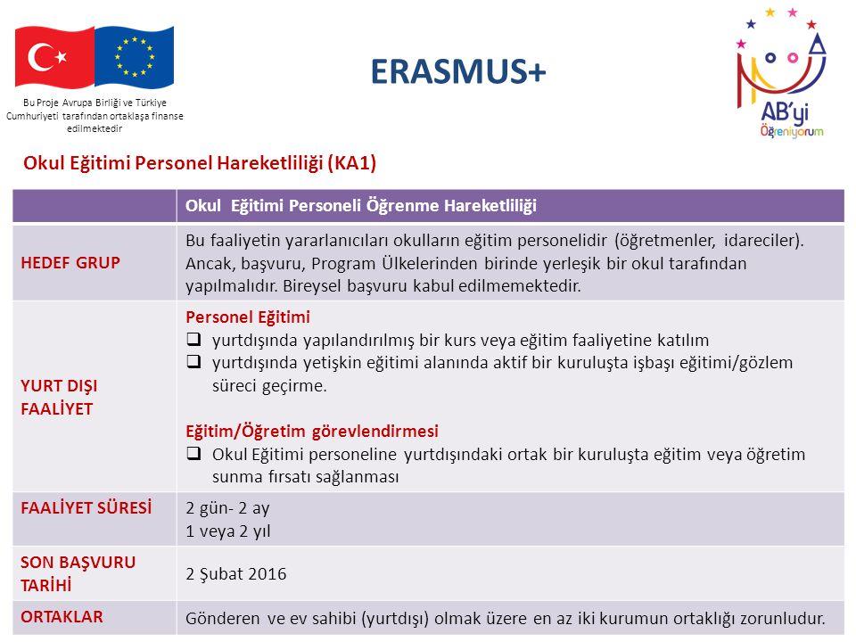ERASMUS+ Okul Eğitimi Personel Hareketliliği (KA1)