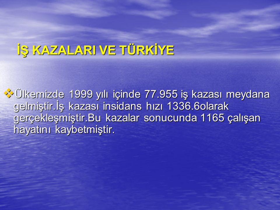 İŞ KAZALARI VE TÜRKİYE