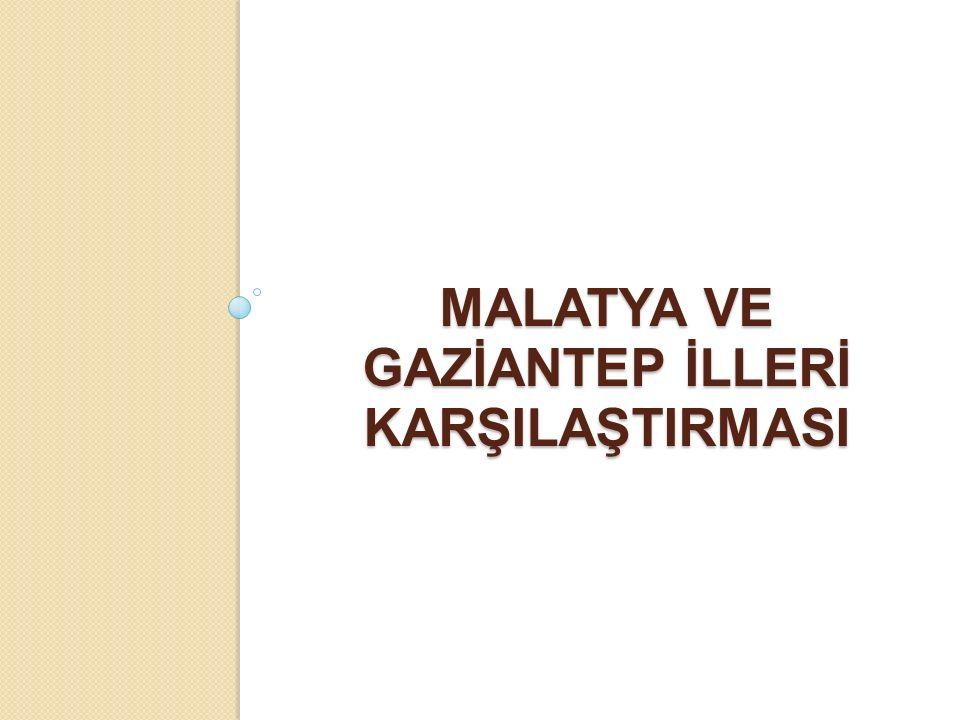 MALATYA VE GAZİANTEP İLLERİ KARŞILAŞTIRMASI