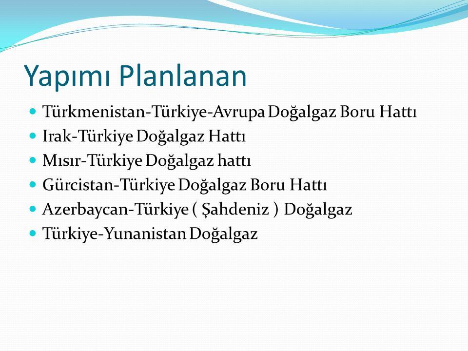 Yapımı Planlanan Türkmenistan-Türkiye-Avrupa Doğalgaz Boru Hattı