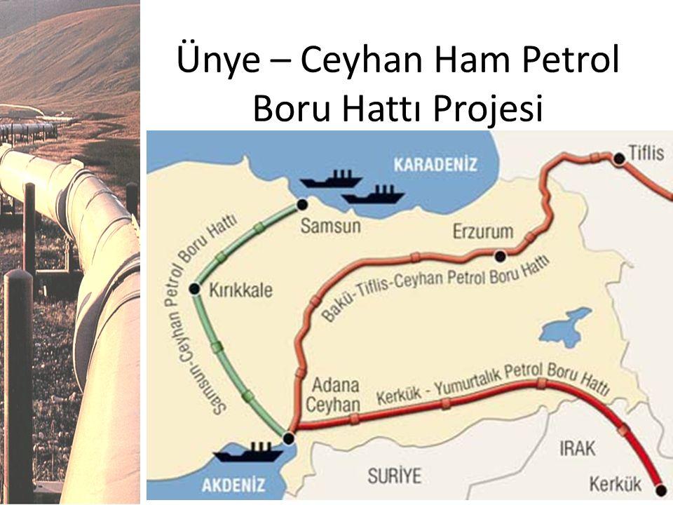 Ünye – Ceyhan Ham Petrol Boru Hattı Projesi