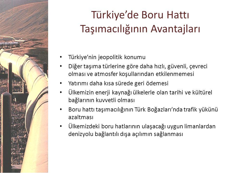 Türkiye'de Boru Hattı Taşımacılığının Avantajları