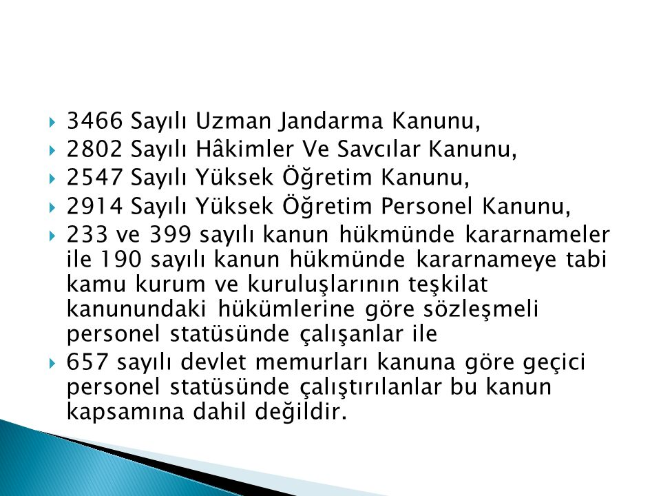 3466 Sayılı Uzman Jandarma Kanunu,