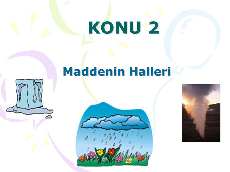 KONU 2 Maddenin Halleri