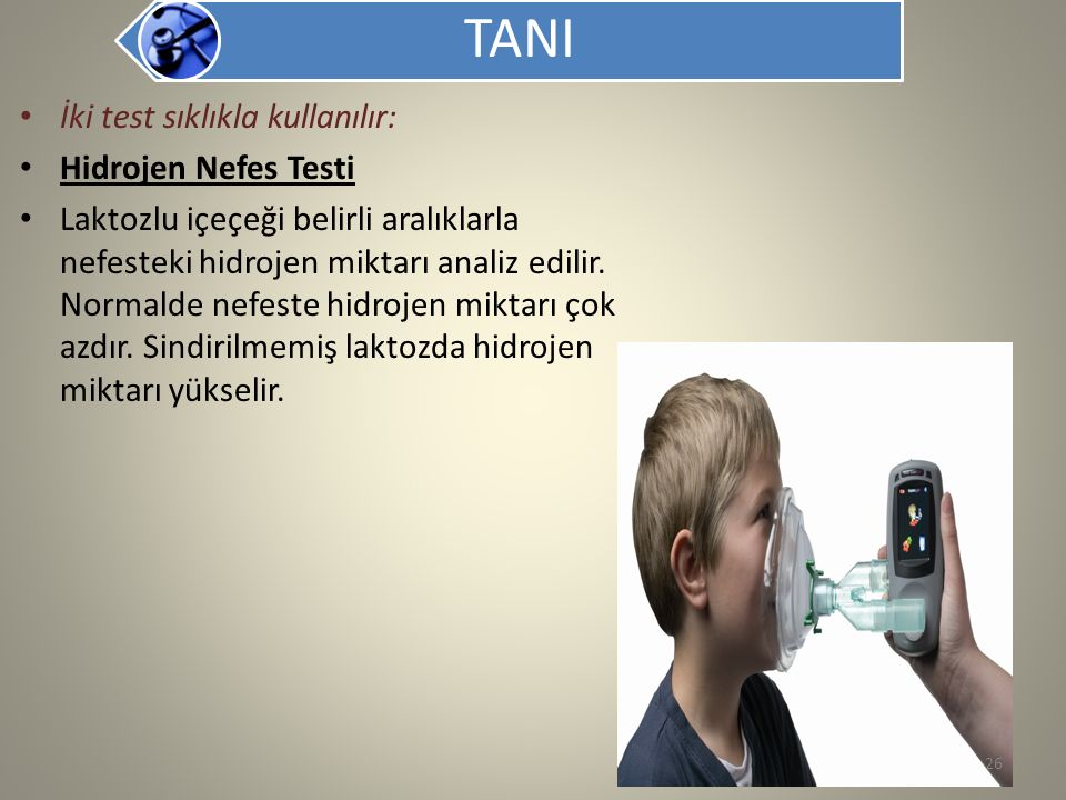 TANI İki test sıklıkla kullanılır: Hidrojen Nefes Testi