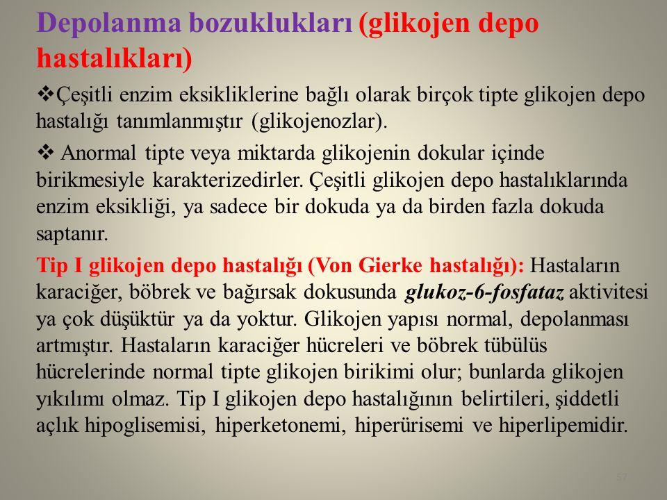 Depolanma bozuklukları (glikojen depo hastalıkları)