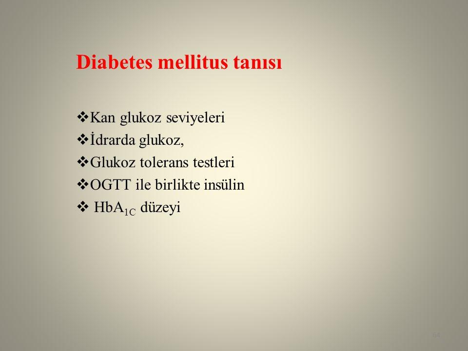 Diabetes mellitus tanısı