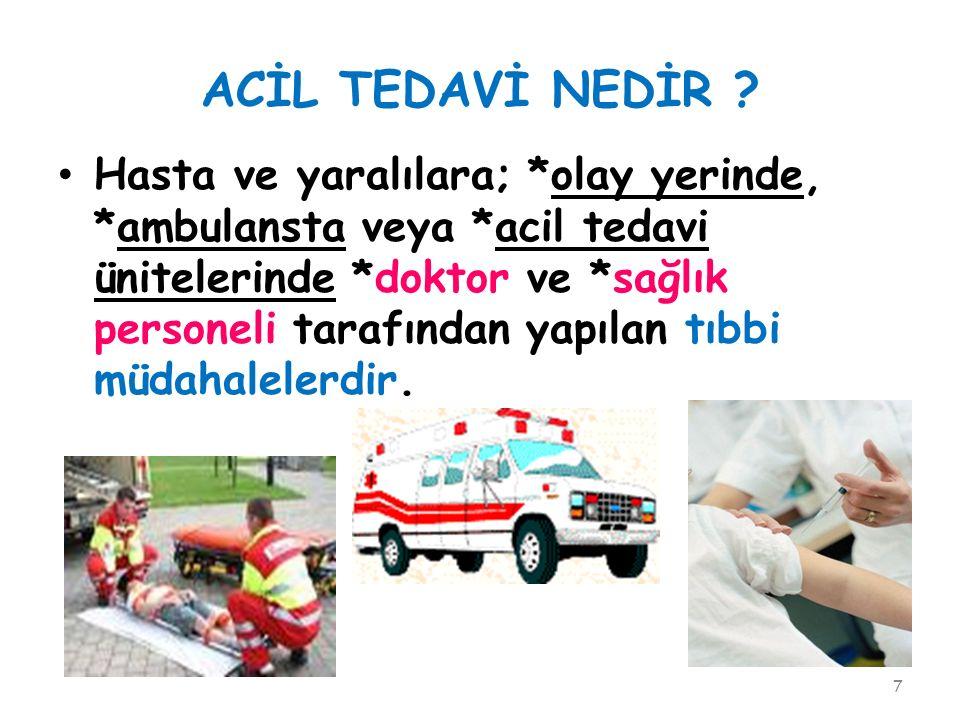 ACİL TEDAVİ NEDİR