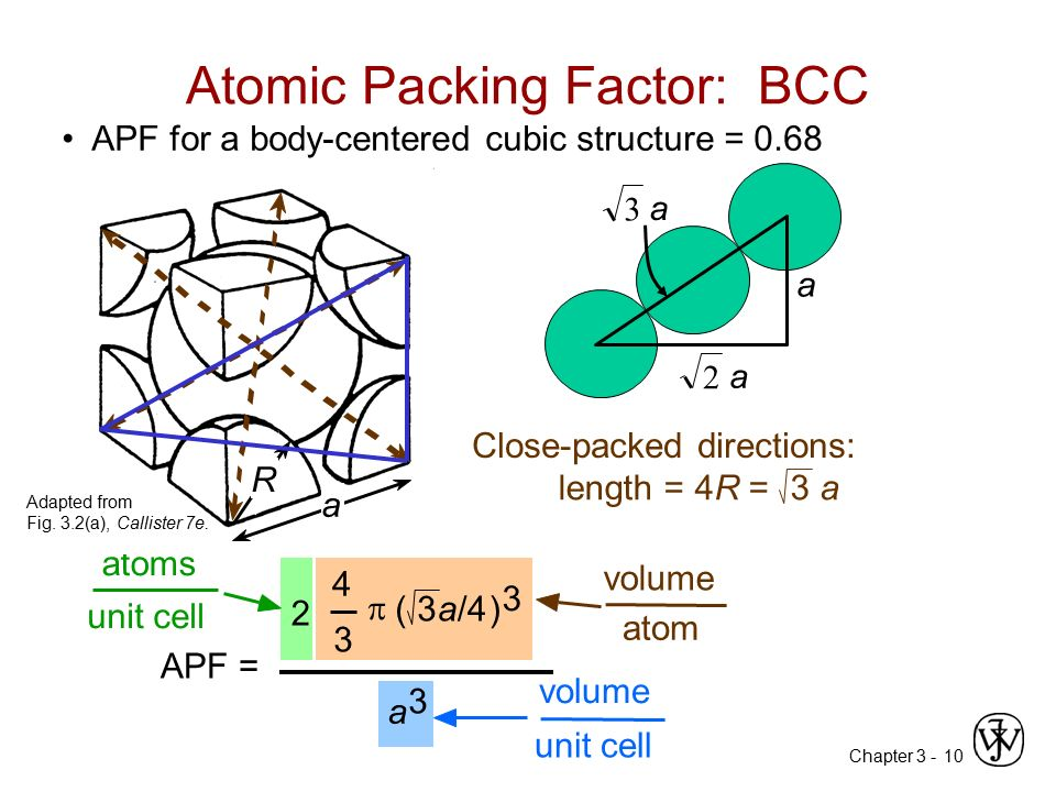 Atomic Packing Factor: BCC